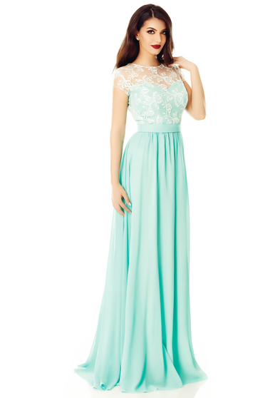 Mint dress occasional with inside lining cloche with sequin embellished details from veil