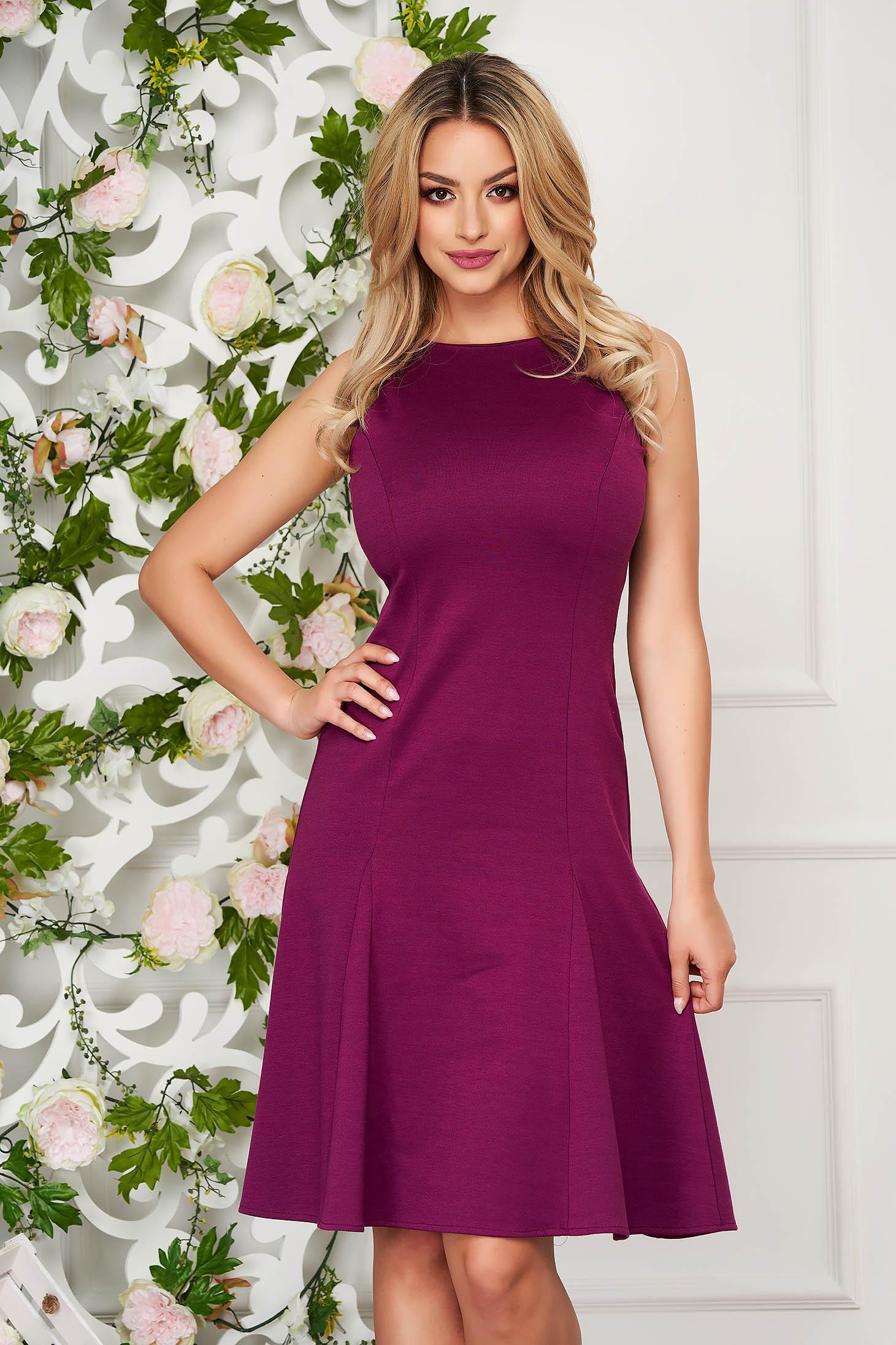StarShinerS purple daily cloche dress from elastic fabric sleeveless