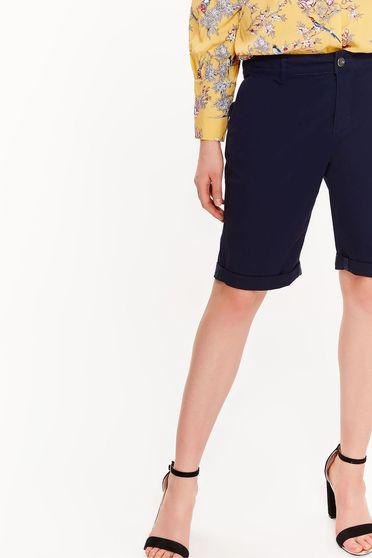 Top Secret darkblue cotton short with medium waist with pockets