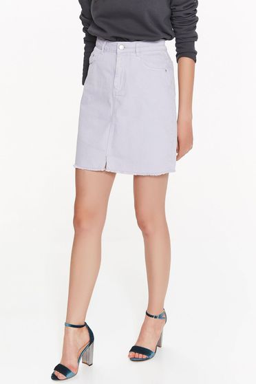 Top Secret lila skirt casual high waisted nonelastic cotton with pockets
