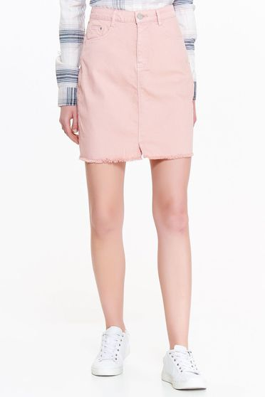 Top Secret rosa casual high waisted skirt nonelastic cotton with pockets