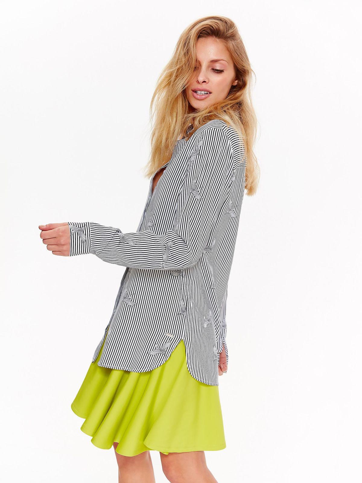 90a70f8ab0 Fehér Top Secret casual bő szabású női ing lenge anyagból nyomtatott  mintával