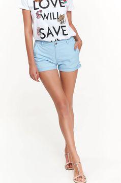 Top Secret lightblue casual short with medium waist cotton with pockets