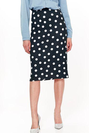 Top Secret black office pencil skirt high waisted slightly elastic fabric