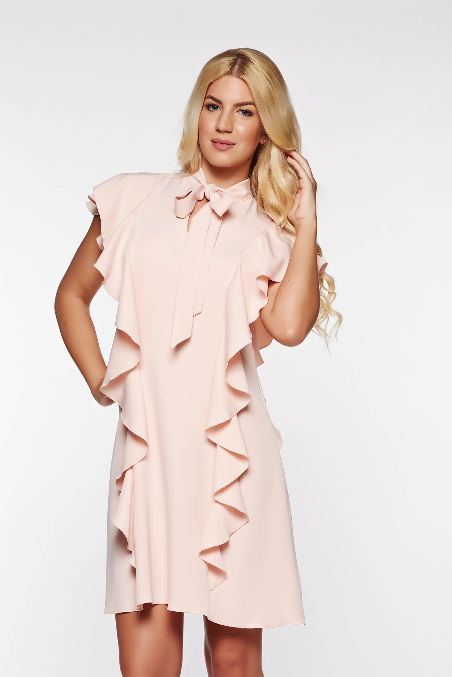Ruffle Fabric Dress