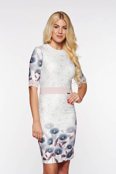 PrettyGirl rosa pencil dress elegant slightly elastic fabric with inside lining