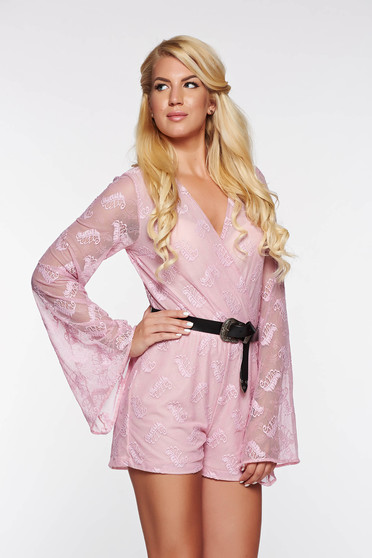 626192bd5248 Casual jumpsuit StarShinerS rosa from elastic and fine fabric with inside  lining with elastic waist