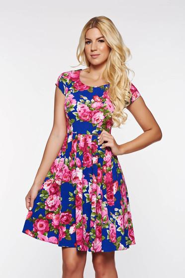 PrettyGirl blue daily cloche dress from elastic soft fabric