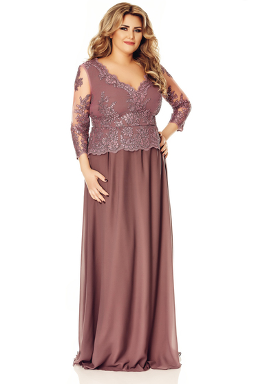 Purple dress occasional cloche with inside lining voile fabric with sequin embellished details