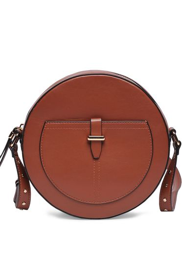Top Secret brown casual bag from ecological leather long, adjustable handle