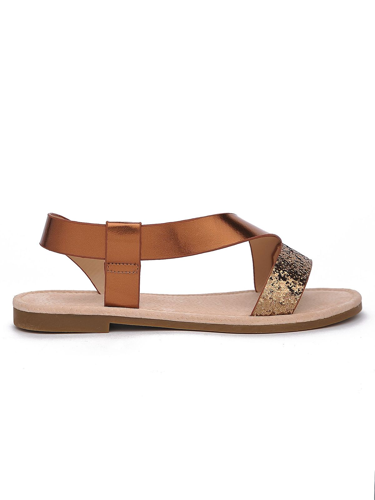 Sandale Top Secret piersica casual din piele ecologica cu talpa joasa