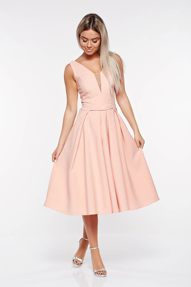 LaDonna rosa occasional cloche dress slightly elastic fabric with deep cleavage