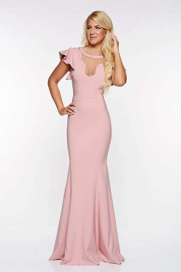 LaDonna rosa occasional mermaid dress slightly elastic fabric with v-neckline with inside lining