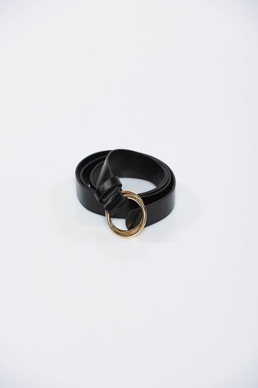 StarShinerS black belt metallic buckle from ecological leather