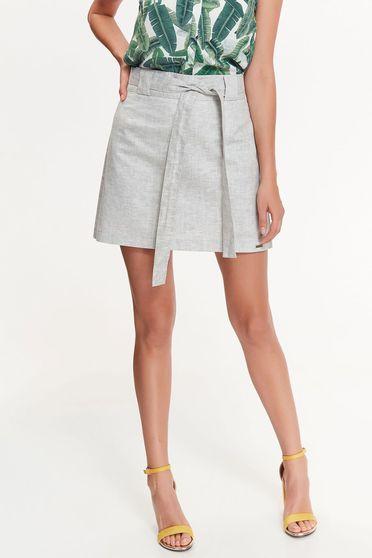 Top Secret grey skirt casual flared nonelastic fabric with medium waist