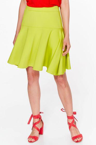 Top Secret yellow skirt casual cloche slightly elastic fabric with medium waist