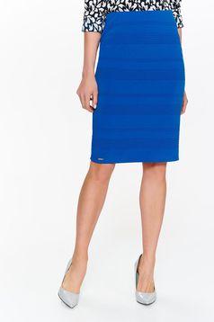 Top Secret blue skirt office pencil slightly elastic fabric with medium waist