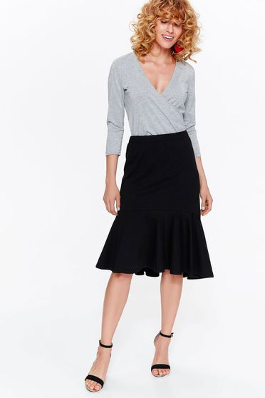 Top Secret grey body casual with tented cut with v-neckline thin fabric