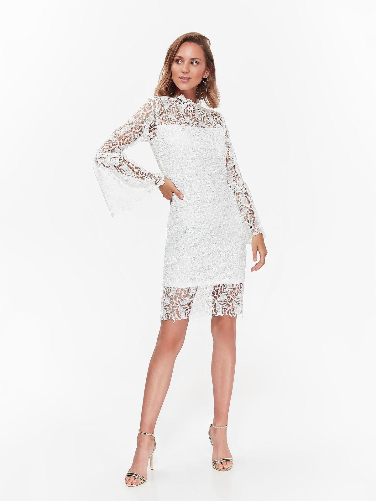 a8dae454af Fehér Top Secret alkalmi ruha csipkés anyagból belső béléssel harang  ujjakkal