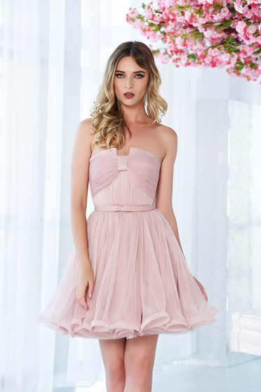 Ana Radu rosa luxurious from tulle cloche dress with inside lining corset
