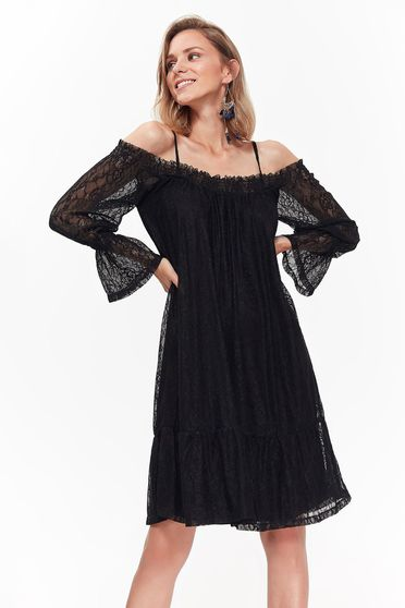 Top Secret black dress elegant laced with inside lining with easy cut