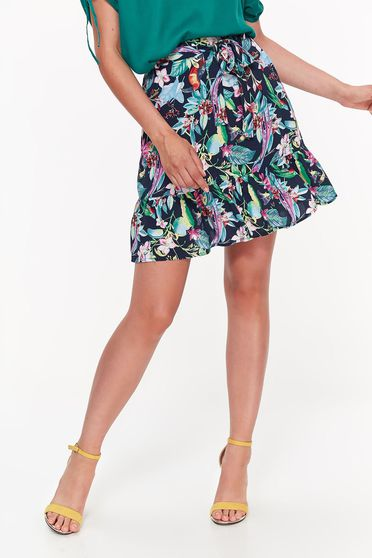 Top Secret darkblue skirt casual cloche airy fabric accessorized with tied waistband