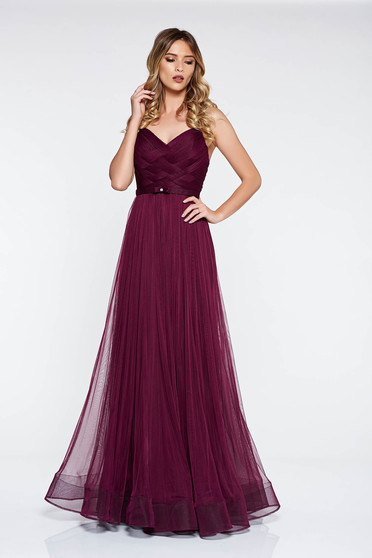 Ana Radu purple dress luxurious from tulle with inside lining corset