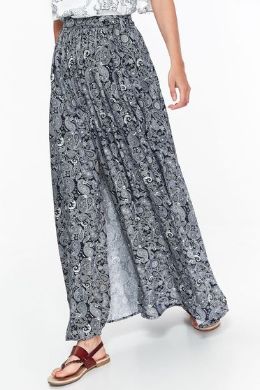 Top Secret darkblue skirt casual airy fabric with elastic waist with easy cut