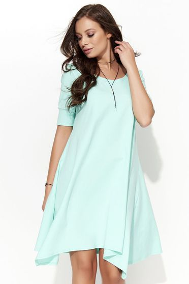 Folly mint dress casual asymmetrical short sleeve cotton
