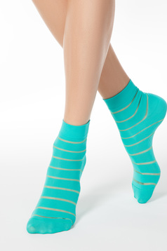 Turquoise fitted heel tights & socks from elastic fabric