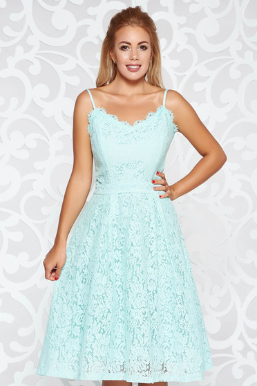Mint dress occasional cloche laced with inside lining adjustable straps