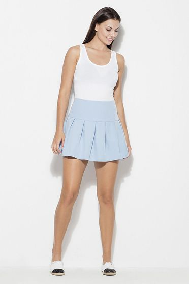 Katrus lightblue skirt casual cloche short cut thin fabric with medium waist