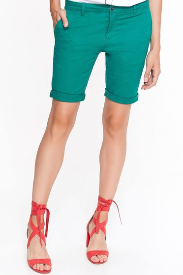 Top Secret green short casual with medium waist cotton with pockets