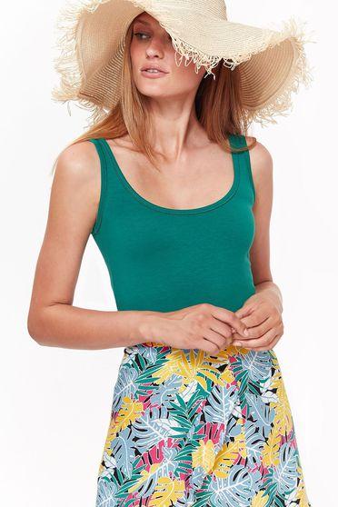Top Secret green casual tented top shirt cotton sleeveless