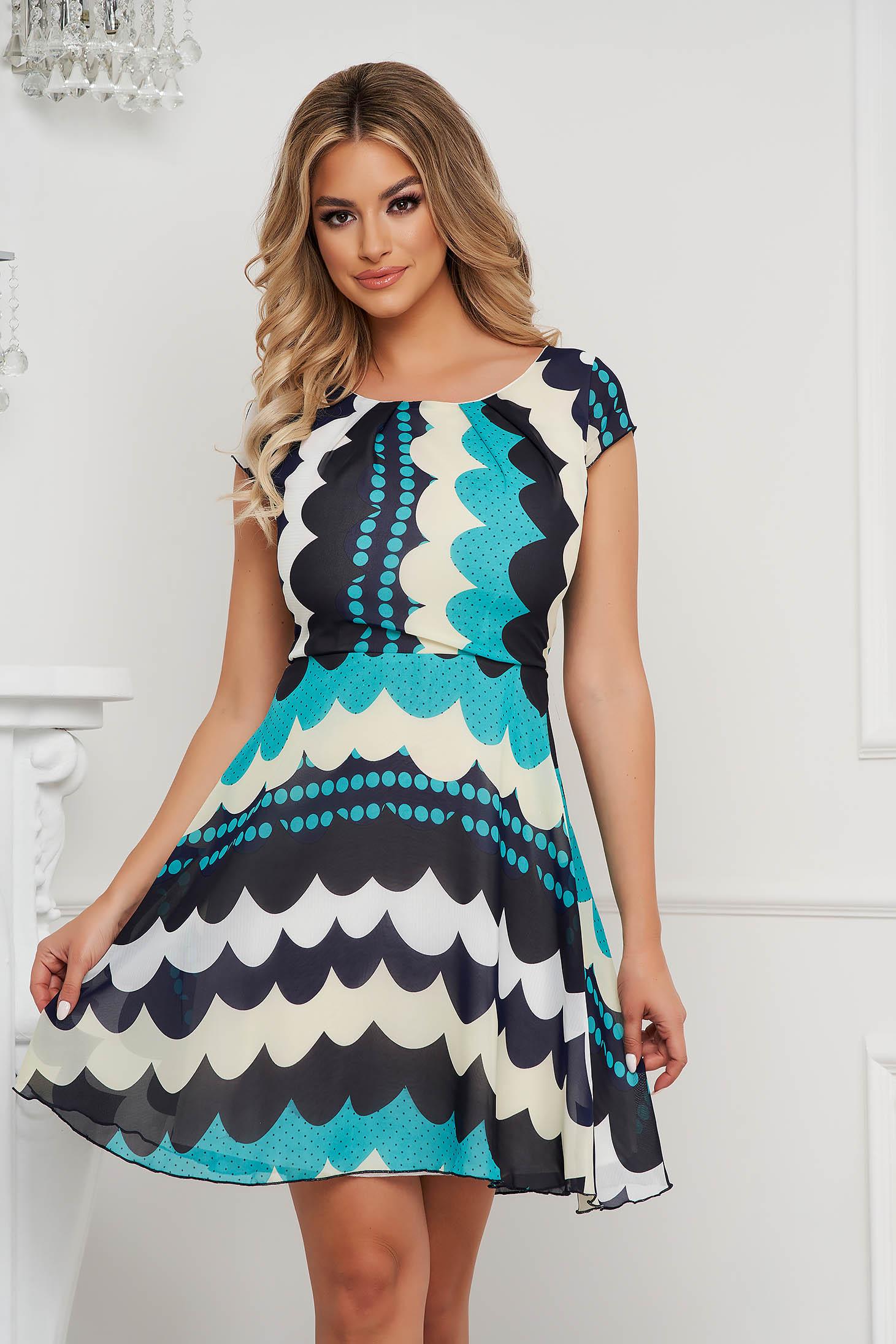 Türkiz hétköznapi harang ruha szellős rugalmatlan anyagból és béléssel