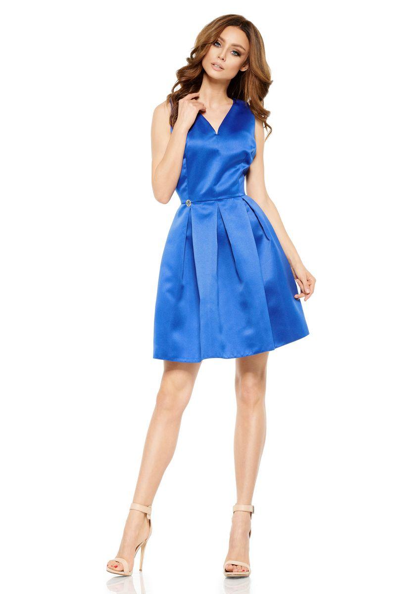 b322394715 Kék Lemoniade ruha alkalmi ujjatlan rövid szatén anyagból