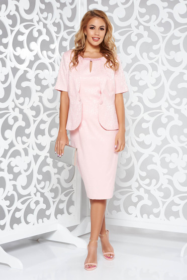 Rosa elegant lady set with tented cut from jacquard