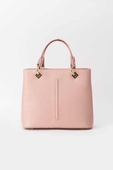 Rosa office bag natural leather with metal accessories