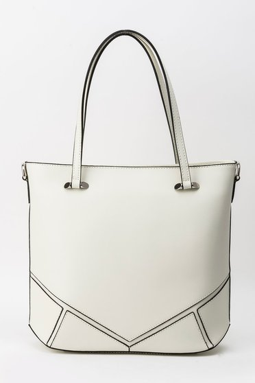 Nude office bag natural leather