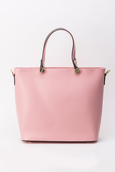 Rosa office bag natural leather short handles