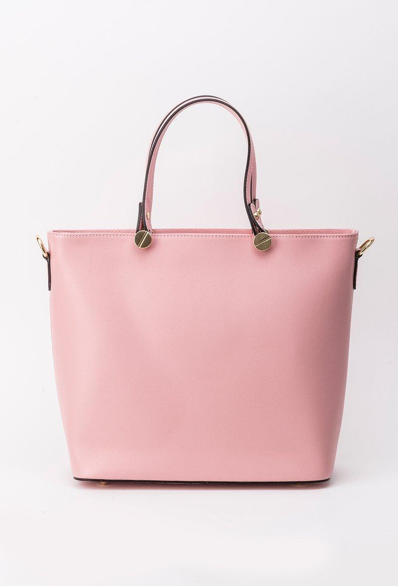 Rosa office bag natural leather short handles