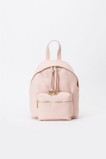 Rosa casual backpacks natural leather with metal accessories