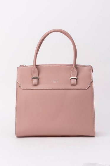 Rosa bag office from ecological leather short handles