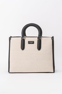 Cream bag office from ecological leather