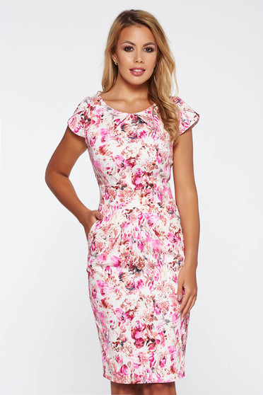 Rosa daily pencil dress slightly elastic cotton with floral prints