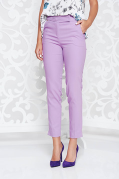 Lila trousers office conical with medium waist with front pockets