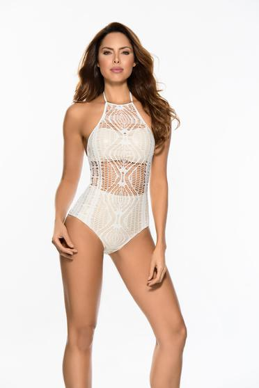 Cosita Linda nude luxurious altogether swimsuit knitted lace bare back