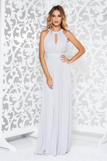 LaDonna grey dress occasional cloche from veil fabric with inside lining with push-up cups