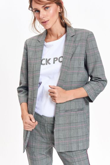 Top Secret grey jacket office flared with inside lining with pockets