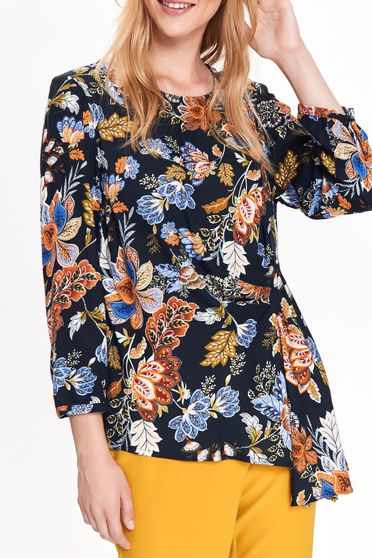 Top Secret black women`s blouse casual flared airy fabric with floral prints